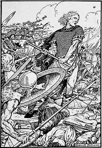 Alfred the Great at the Battle of Ashdown