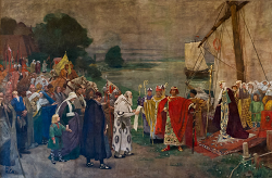 Arrival of Otto the Great and his wife Edith at Magdeburg