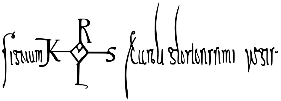 Signature of Charlemagne,