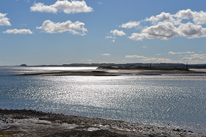 View of mainland from Lindisfarne
