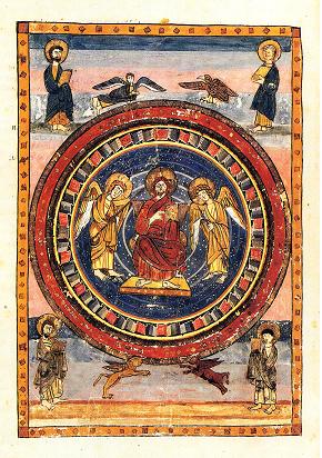 Maiestas Domini page from Codex Amiatinus