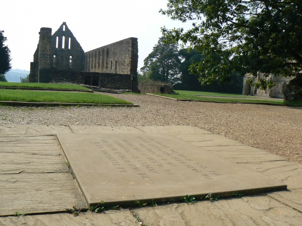 The spot marking the place where Harold is supposed to have died, Battle Abbey, Sussex