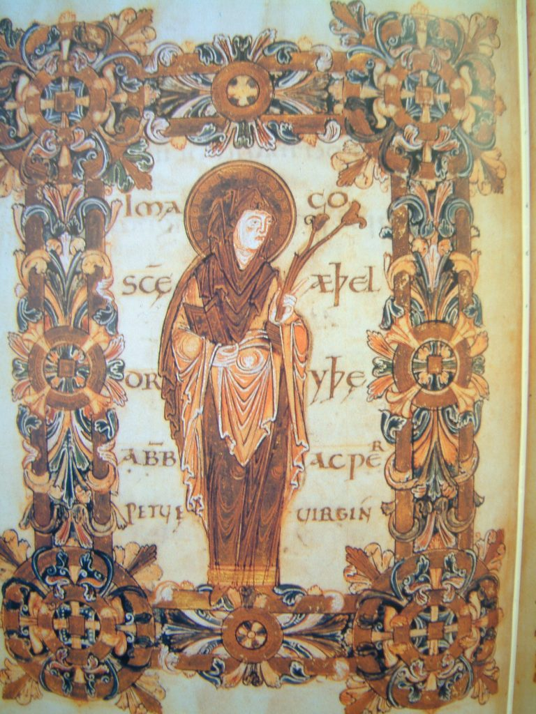 Saint Athelthryth of Ely from the Benedictional of St. Athelwold,