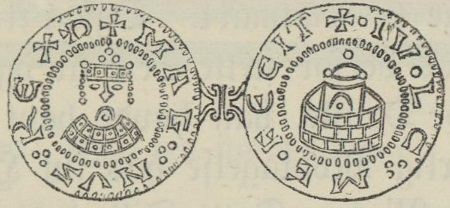 Coin of Magnus the Good minted in Denmark.