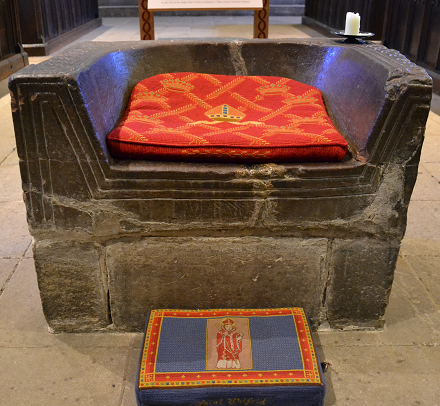 The Frith Stool at Hexham Abbey