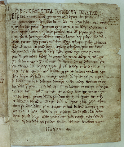 An Old English Translation of Gregory the Great's Cura Pastoralis