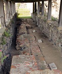 Gravestones of Mellitus, Justus, and Laurence at Canterbury
