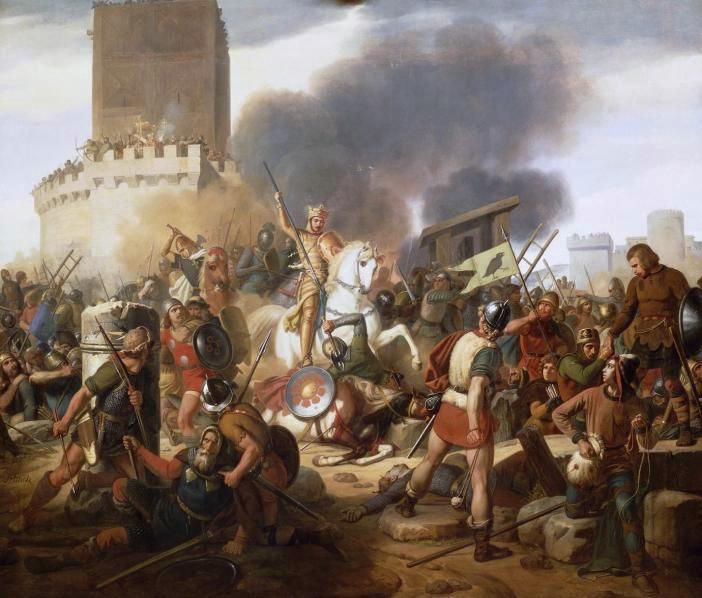 Count Odo defends Paris against the Norsemen