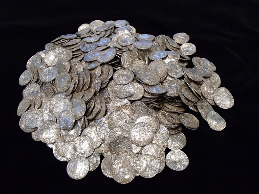 Some of the cleaned coins from the Lenborough Hoard