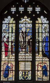 Evesham, St Lawrence's church window, story to Ecgwin