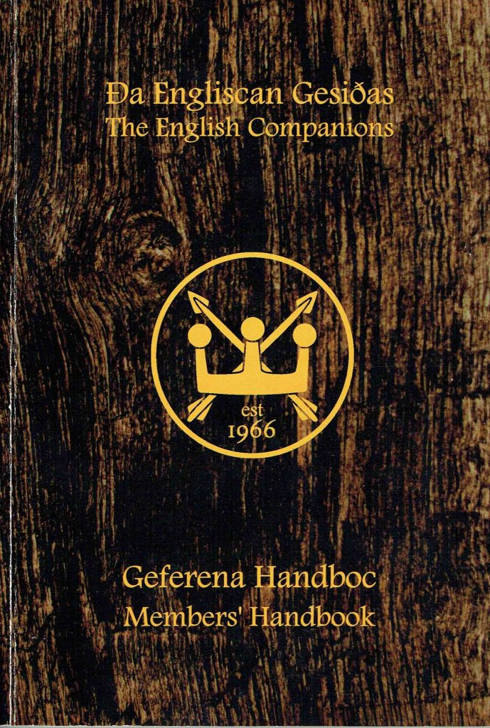 Image of the front cover of the Members Handbook