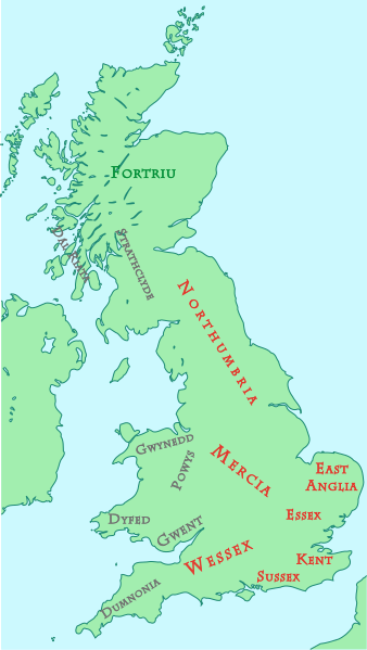 Map of the Heptarchy