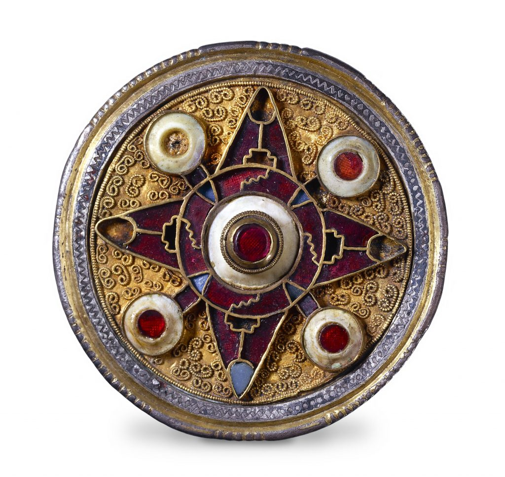 Plated disc brooch form Kent, 6-7th century