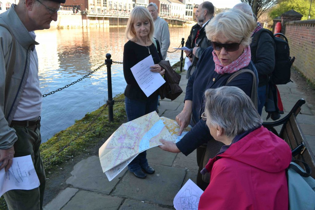 Members on a walking tour of York
