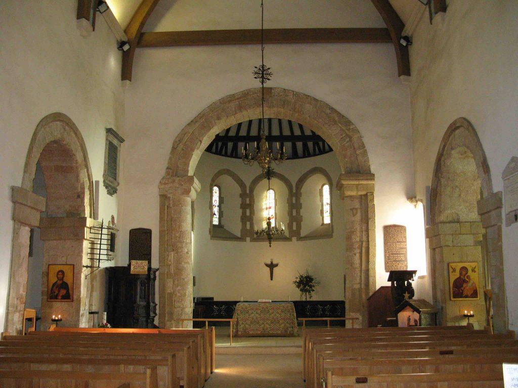 Interior of Worth Church
