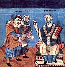 Raban Maur and Alcuin with Archbishop Otgar of Mainz