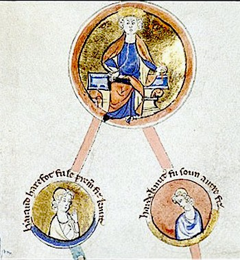 Cnut, and his sons Harald Harefoot and Harthacnut