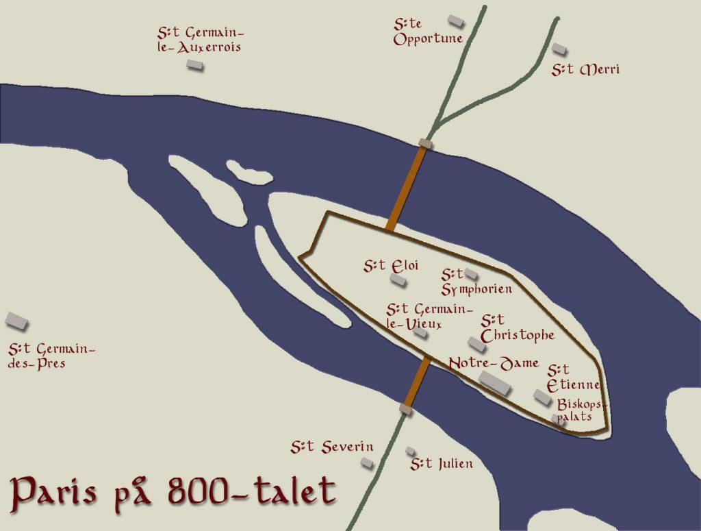 Paris in the 9th century