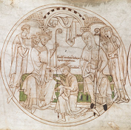 Roundel from the Guthlac Roll