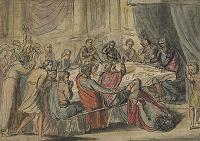 Death of Earl Godwin by William Blake