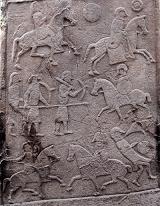 Dun Nechtain depicted on Aberlemno Stone