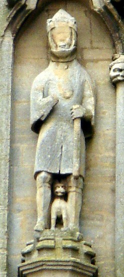Waltheof, at Croyland Abbey, west front of ruined nave, 4th tier