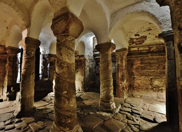 The Anglo Saxon crypt, Repton, St. Wystan's Church