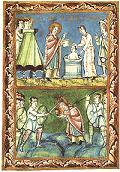 Illustration from the Sacramentary of Fulda