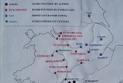 Map of Mercian Burhs