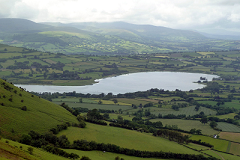 Llangorse lake viewed from Llangorse Mountain, South Wales
