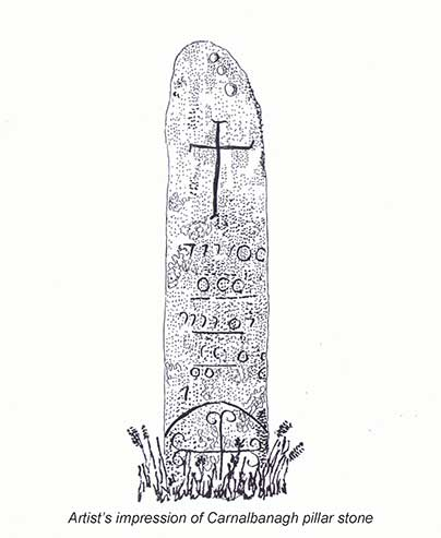 A drawing representing the stone in Carnalbanagh